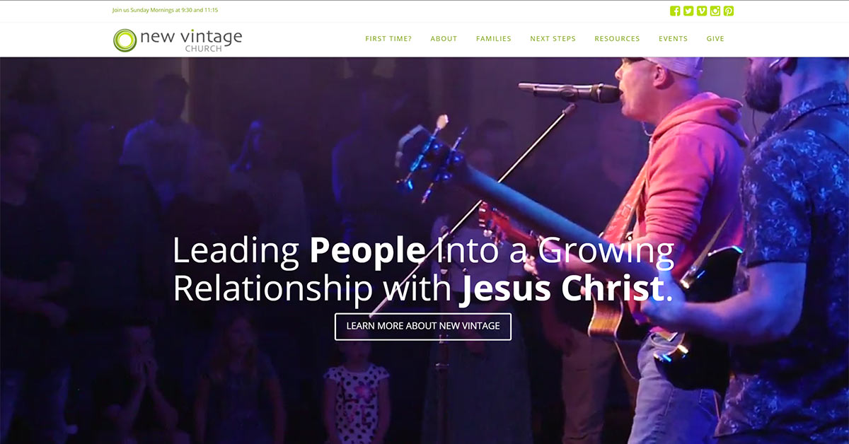 New Church Website for New Vintage Church in Santa Rosa, CA